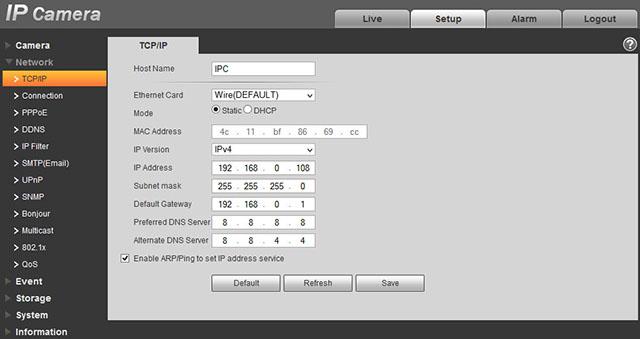 DAHUA IPC HFW2300R Z ZOOM
