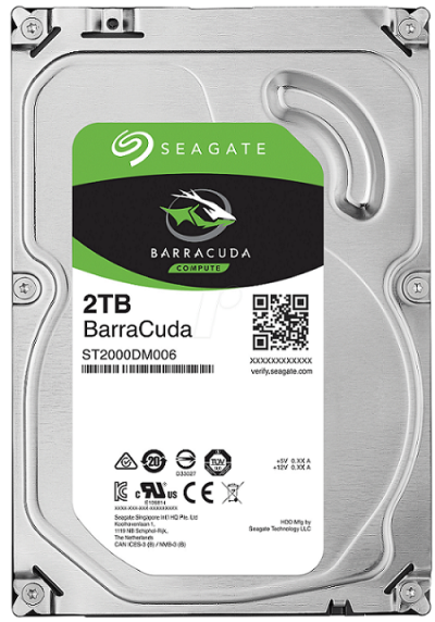 HDD 2ТБ, BarraCuda Seagate ST2000DM006.